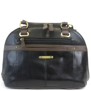 Stone Mountain Accessories Satchel in Black/Dark Brown