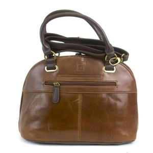 Stone Mountain Accessories Satchel in Cognac/Dark Brown