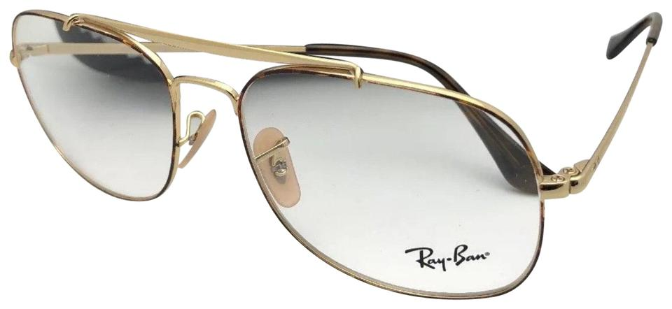 f21d306d031 Ray-Ban RAY-BAN Aviators Eyeglasses THE GENERAL RB 6389 2945 Havana Gold  Frame ...