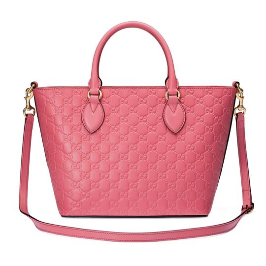 Gucci Guccissima Satchel in Pink Image 1