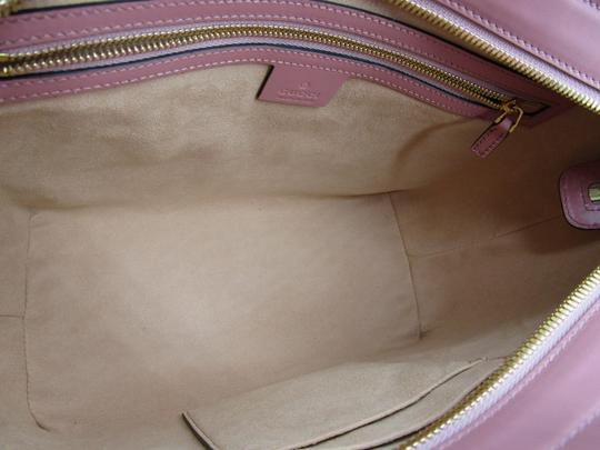 Gucci Guccissima Satchel in Pink Image 10
