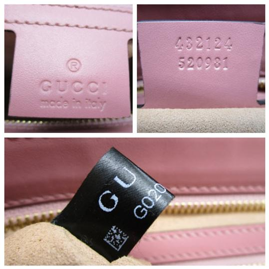 Gucci Guccissima Satchel in Pink Image 11