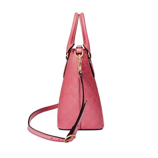 Gucci Guccissima Satchel in Pink Image 2