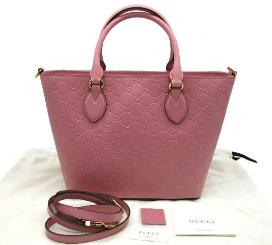 Gucci Guccissima Satchel in Pink Image 3