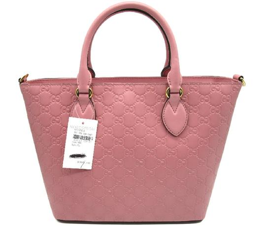 Gucci Guccissima Satchel in Pink Image 4
