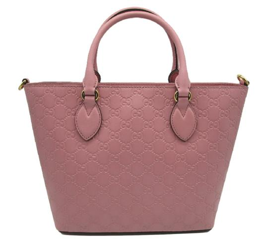Gucci Guccissima Satchel in Pink Image 5