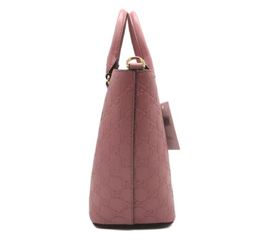 Gucci Guccissima Satchel in Pink Image 6