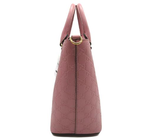 Gucci Guccissima Satchel in Pink Image 7
