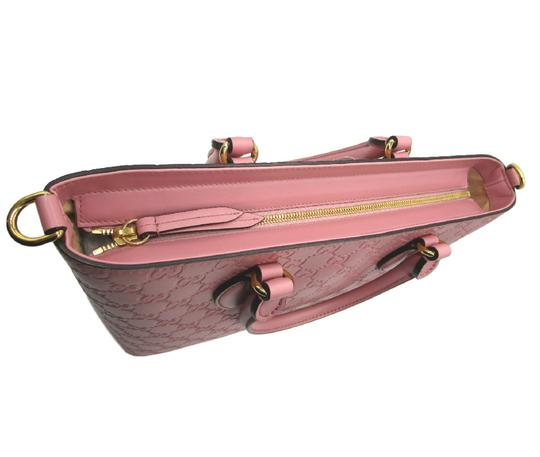 Gucci Guccissima Satchel in Pink Image 9