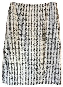 Escada Tweed Skirt White and Black