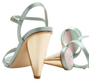 Charles & Keith Vintage Retro Color Retro Heel Vintage Heels Mint Sandals