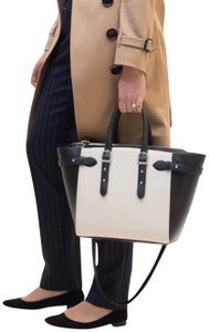 Aspinal of London Tote in Black & Cream