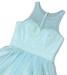 Allure Bridals short dress light blue on Tradesy