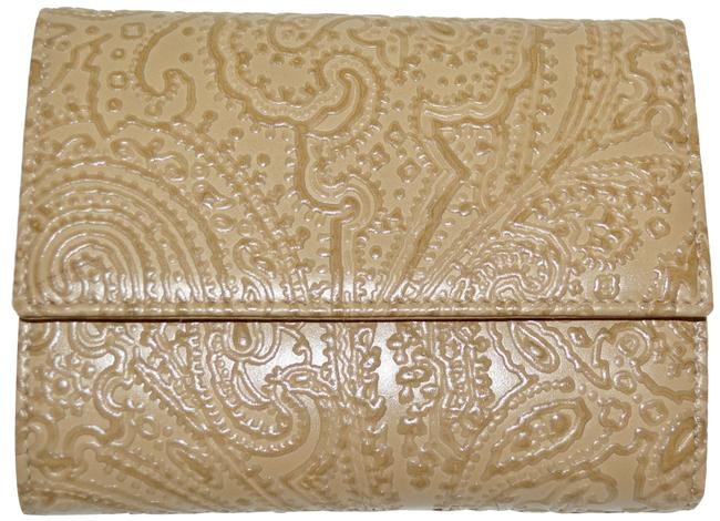 Item - Tan Pailsey Embossed Leather Made In Italy Wallet