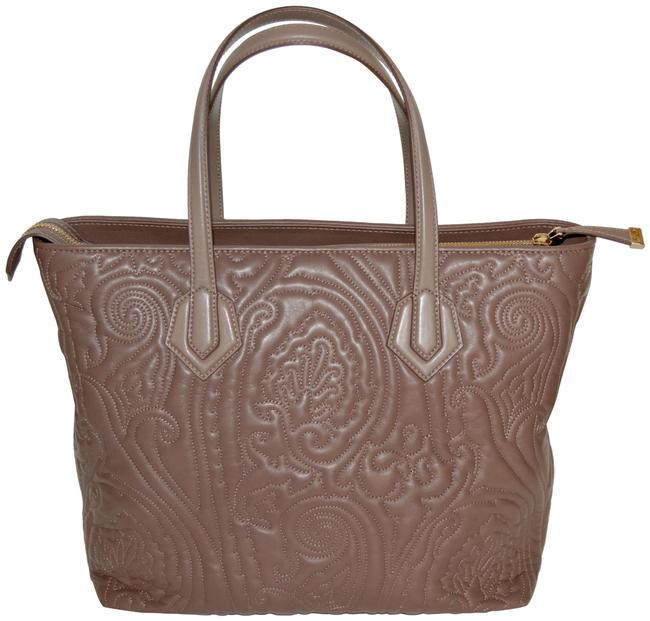 Item - Shoulder Bag New Embossed Paisley Purse Taupe Leather Tote