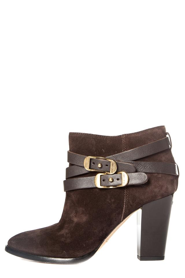 eecce576217 Jimmy Choo Brown New Dark Suede Ankle Boots/Booties Size EU 39.5 ...