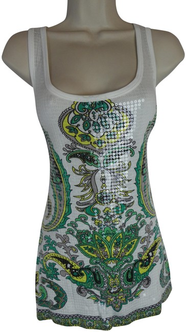 Item - Green S Sequin Tank Top/Cami Size 6 (S)