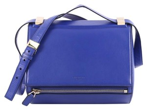 Givenchy Crossbody Leather Satchel in Blue