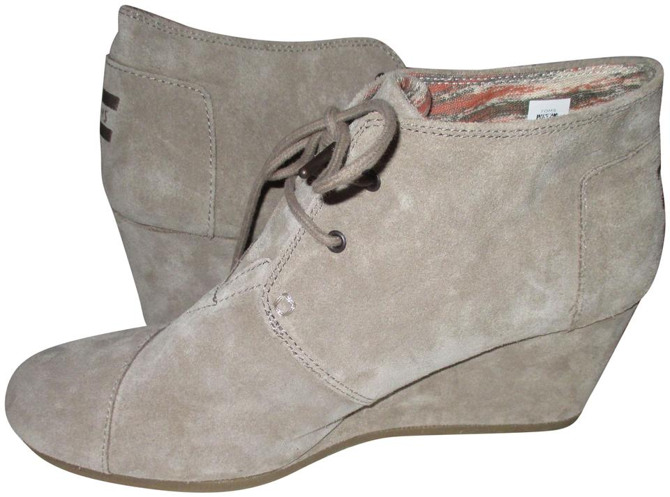 3123bddd7fe8 TOMS Taupe Women s Desert Bootie-taupe Wedges Size US 11 Regular (M ...
