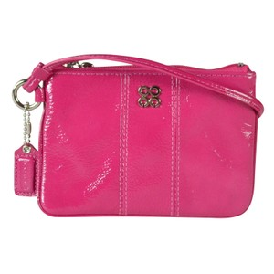 Coach Patent Leather Wristlet in Magenta