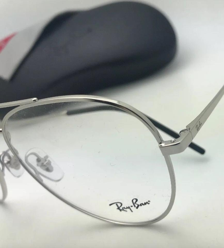 d7a8068ff3f Ray-Ban New Aviators Rb 6413 2501 56-17 140 Silver Frames with Clear  Sunglasses - Tradesy