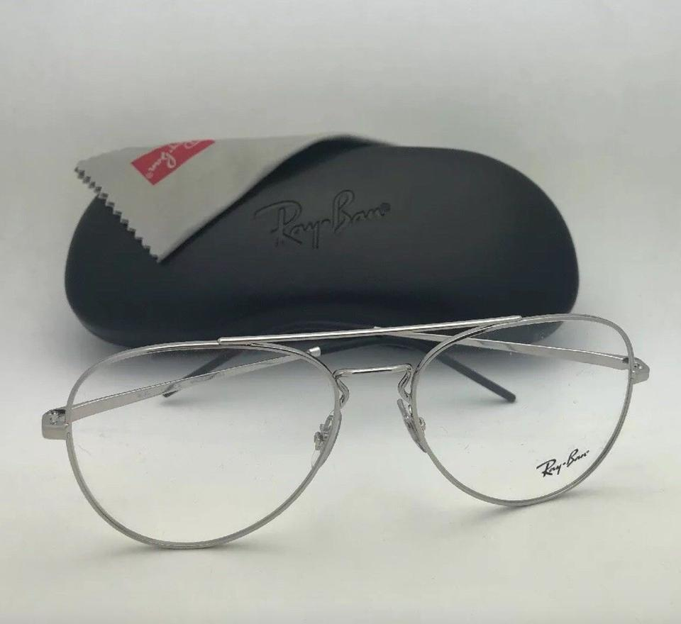 01d38c1075b20 Ray-Ban New Aviators Rb 6413 2501 56-17 140 Silver Frames with Clear  Sunglasses - Tradesy