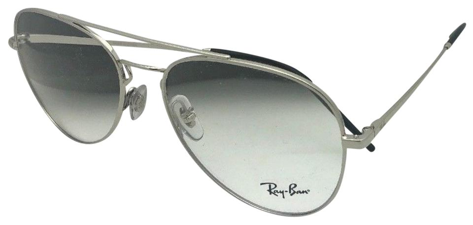 377e2d6263b Ray-Ban New Aviators Rb 6413 2501 54-17 140 Silver Frames with Clear ...