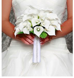 David Tutera Bridal Satin Bouquet Wrap With Rhinestone Edge Wedding