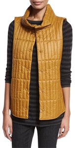 Eileen Fisher Quilted Funnel Collar Vest