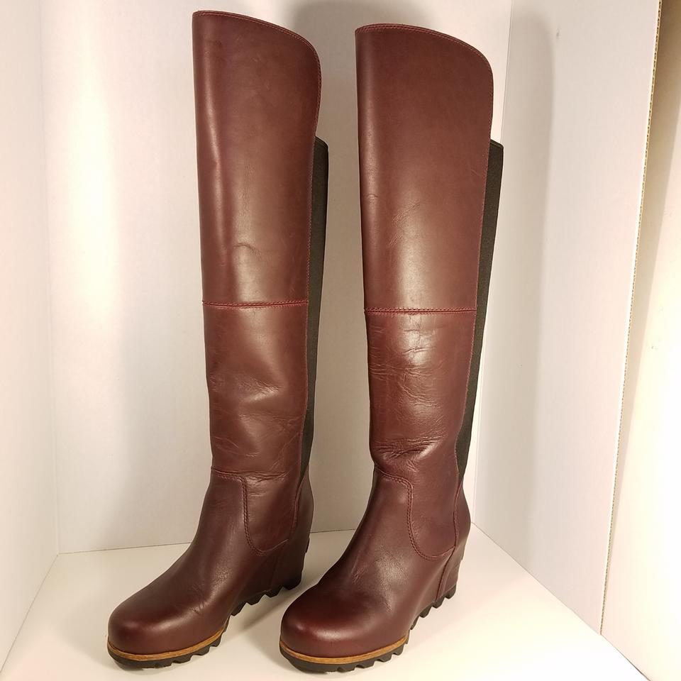 high quality good quality super popular Sorel Reddish Brown Fiona Over The Knee Lux Boots/Booties Size US ...
