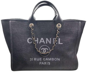 Chanel Blue Tote in Navy