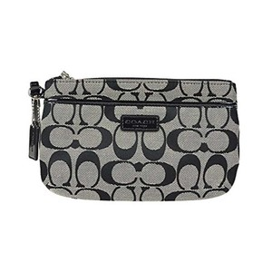 Coach Accessories Wristlet in Black/ White