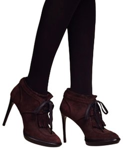 Burberry Prorsum Ankle Leather Auburn Boots