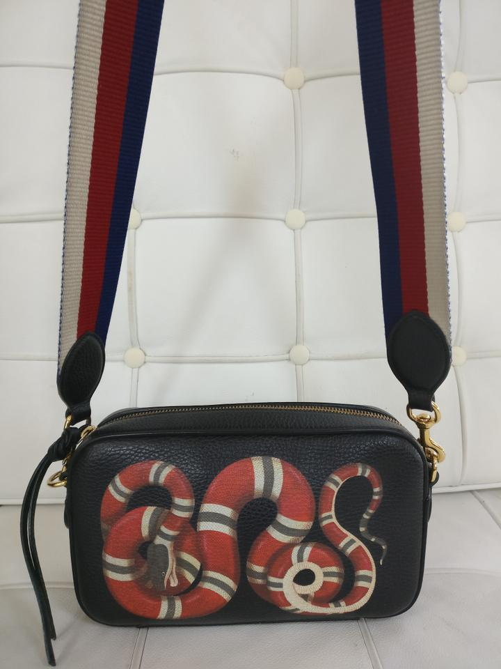 7f6a0b7acde604 Gucci Kingsnake Print Leather Cross Body Bag Image 10. 1234567891011