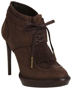 Burberry Prorsum Ankle Leather Taupe Boots