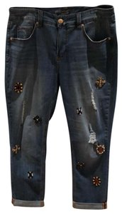 Melissa McCarthy Seven7 Straight Leg Jeans-Distressed