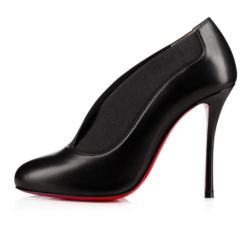 a14ae1dd939 Christian Louboutin Black Toot Couverte 100 Leather Heels Boots/Booties  Size EU 37 (Approx. US 7) Regular (M, B) 33% off retail