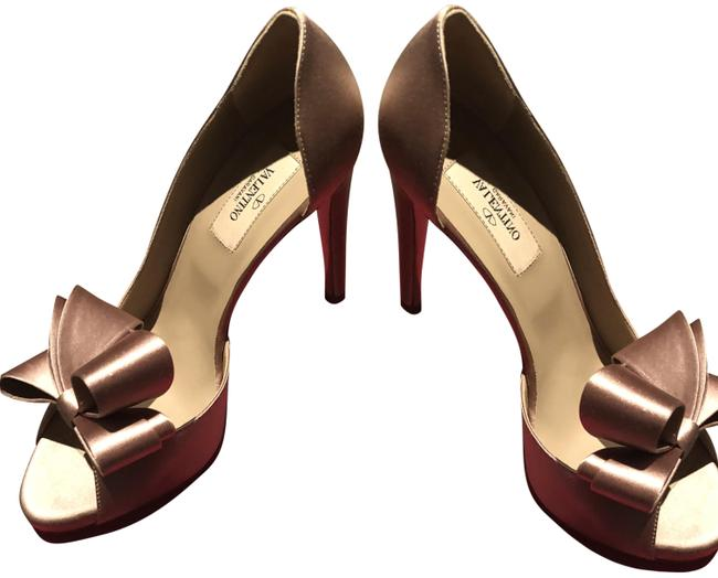 Item - Nude D'orsay Bow Pumps Formal Shoes Size EU 38 (Approx. US 8) Regular (M, B)