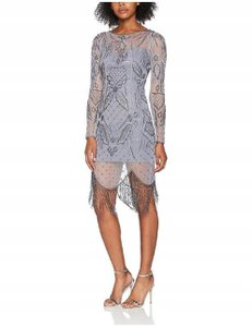 Frock and Frill short dress Gray Dolce Gabbana Gucci Hermes Flowers Bloom on Tradesy
