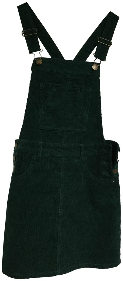 3296d3e39f Miss Selfridge Forest Green Corduroy Pinafore Short Casual Dress ...