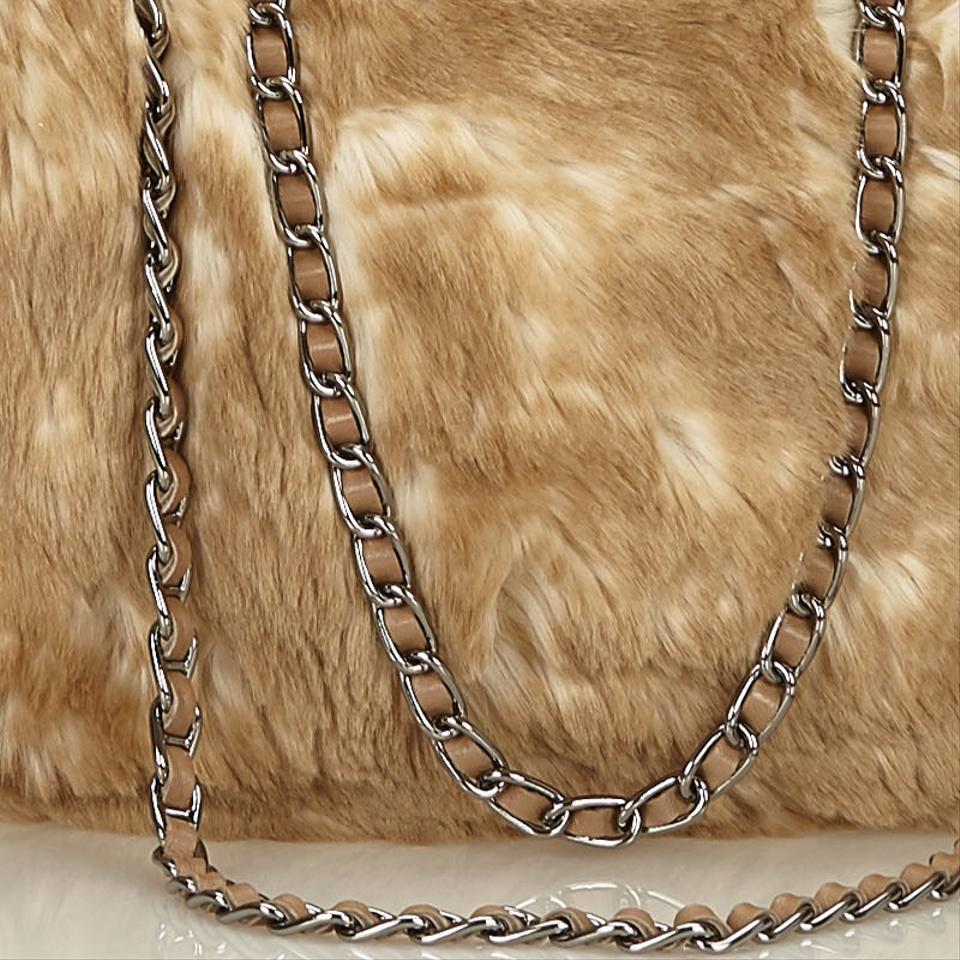Prada Faux Fur Chain Brown Other X Others X Leather X Others Tote ... 6a7ad56273