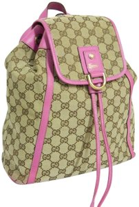 Gucci Gg Monogram Pink Cross Body Backpack