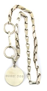 Gucci Dog Tag Charm Chain Collar
