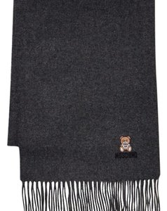 Moschino Bear Logo Wool Scarf