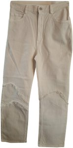 Rachel Comey Ticklers Jeans Denim Size 6 Small Dirty Straight Pants Ivory white