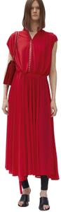 Red Crepe Viscose Jersey Maxi Dress by Céline
