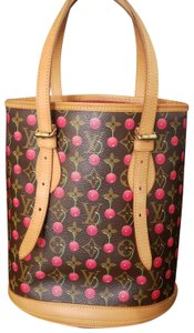 Louis Vuitton Bucket Limited Edition Cherry Cerises Rouge Shoulder Bag