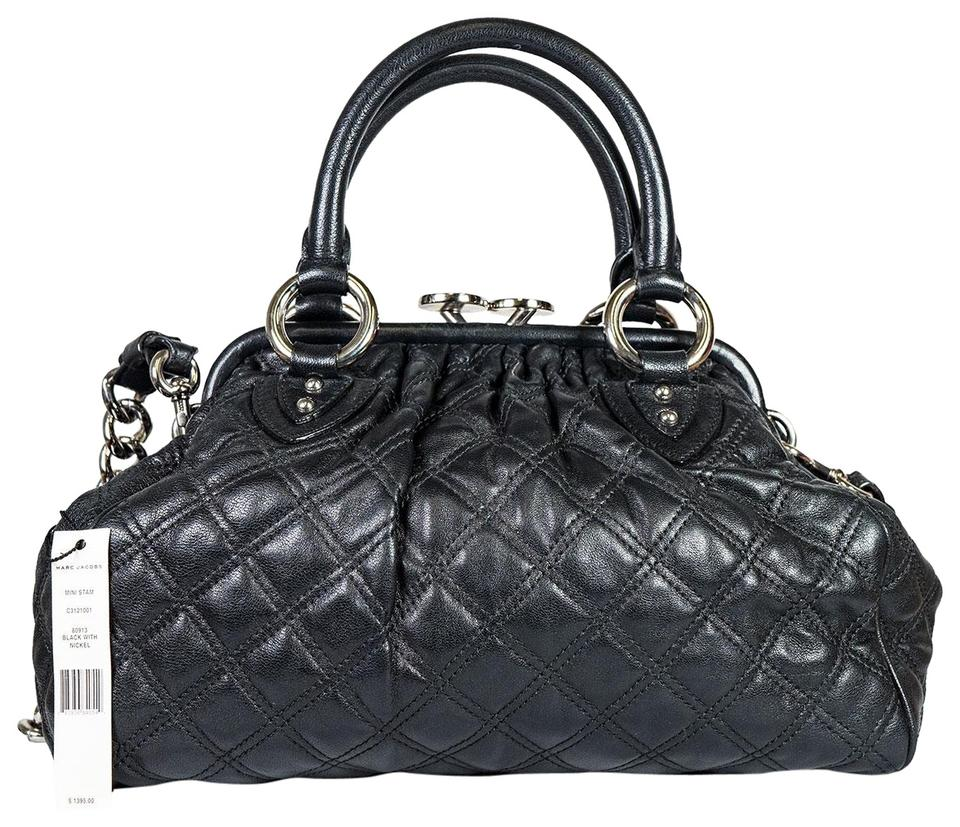 9f67056376a Marc Jacobs Quilted Mini Stam Black Leather Shoulder Bag - Tradesy