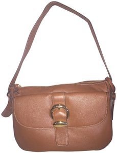 Dkny Bessie Small Brown Leather Hobo Bag