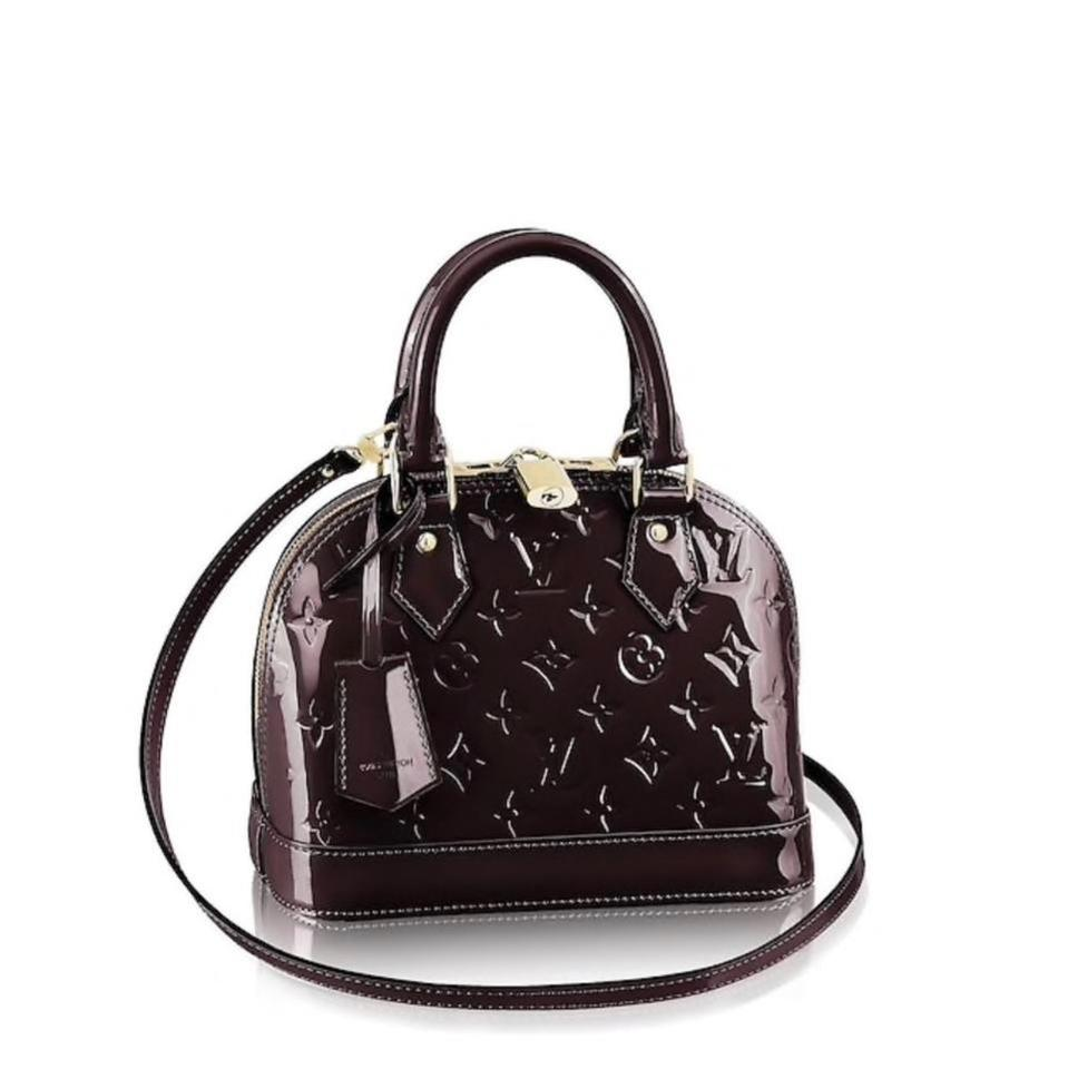 Louis Vuitton Alma Bb Amarante  Burgundy Patent Leather Shoulder Bag ... 199a91fe1d